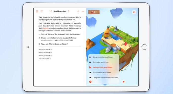 Zu sehen ist ein Screenshot von Apples Swift Playground. Bild: Apple