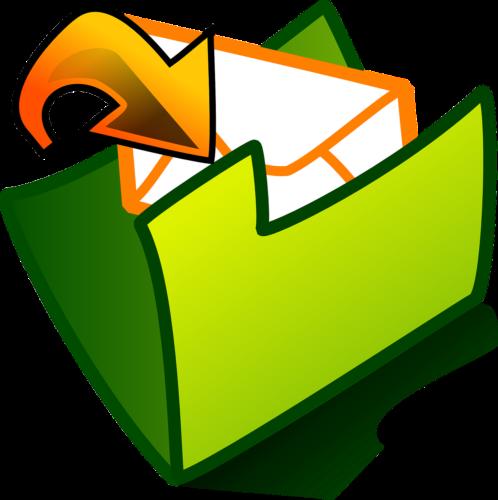 Gmail archivierte Mails: Grafik eine Ordners, in den ein Briefumschlag hineingelegt wird. Bild: Pixabay