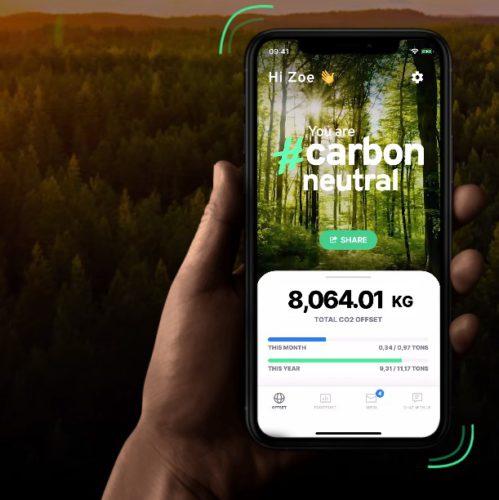 Screenshot der Webseite der Klima-App. Bild: Screenshot