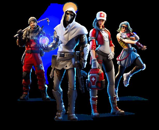 Darstellung von vier Spielern aus der Fortnite-App. Bild: Pixabay