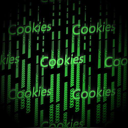 Chrome Cookies löschen: Binäre Zeichen mit dem wiederkehrenden Schriftzug Cookies. Bild: Pixabay