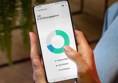 Samsung Pay in Deutschland: Handydisplay zeigt alle Aufgaben eines Monats als Kreisdiagramm. Bild: Screenshot Samsung