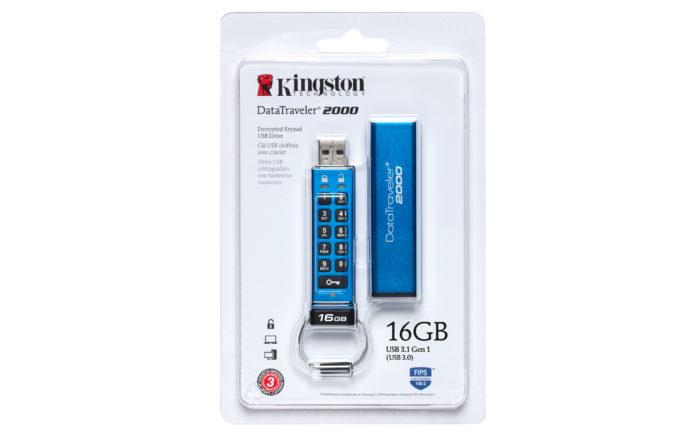 Kingston DataTraveller: Der DT2000 in seiner Originalverpackung. Bild: © Kingston