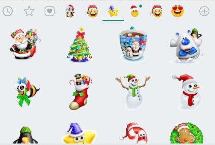 Weihnachtssticker aus WhatsApp. Bild: Screenshot Google