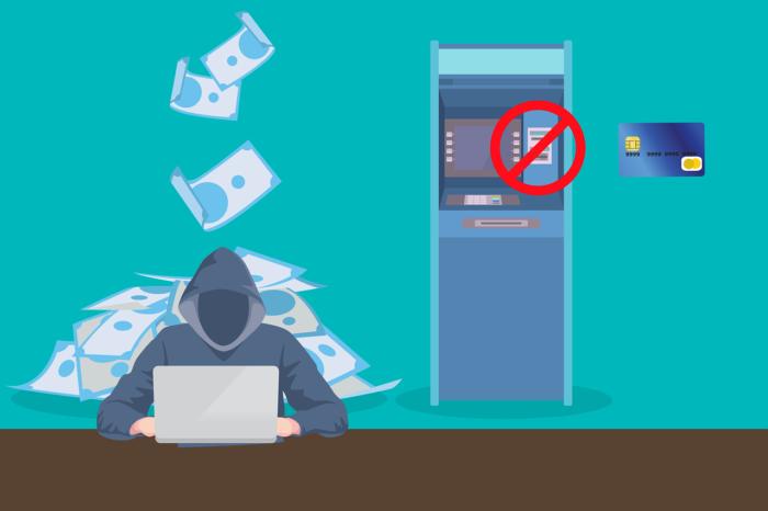 Darstellung eines Kriminellen vor einem Laptop, im Hintergrund ein Computer-Tower mit fliegenden Geldscheinen. Bild: Pixabay