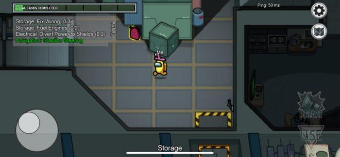 Ein Crewmate im Raumschiff löst eine Aufgabe. Bild: PC-SPEZIALIST