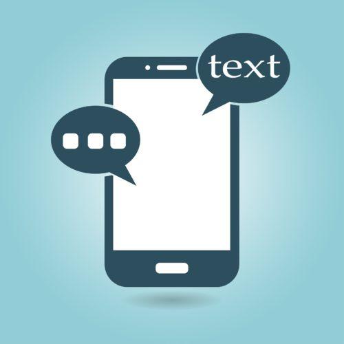Grafik eines Handys mit Textblasen. Bild: Pixabay