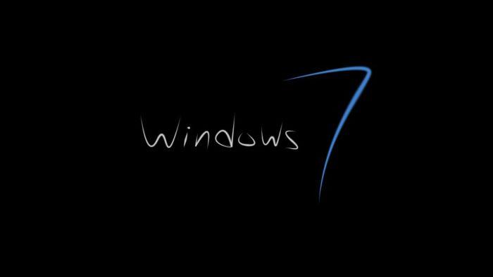 Windows-7-Sicherheit: Schriftzug Windows 7 auf schwarzem Hintergrund. Bild: Pixabay