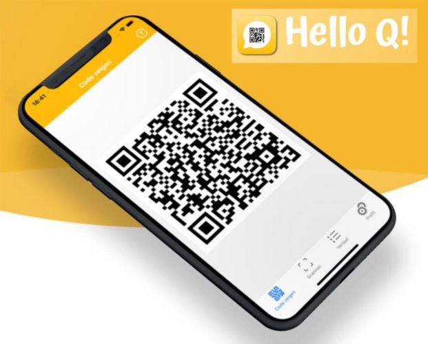 Screenshots von Hello Q!-App als Alternative zur Luca-Warn-App. Bild: Screenshots hello-q.app/Montage PC-SPEZIALIST