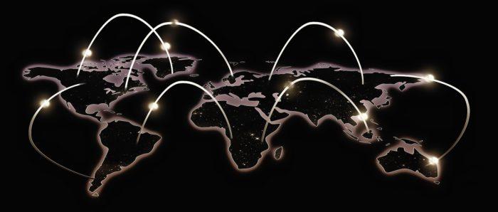 Apple Wo ist. Vernetzte Welt von oben. Bild: Pixabay