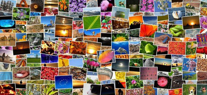 Google-Fotos-Alternative: Pinnwand mit unzähligen Fotos. Bild: Pixabay