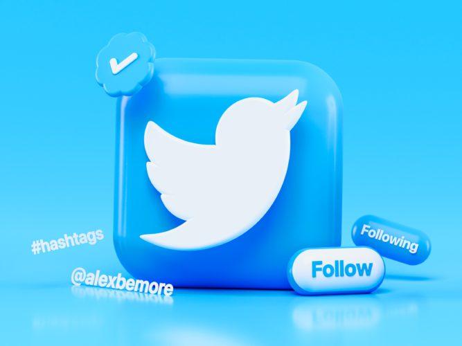 Twitter Blue: Twitter-Logo und mögliche Aktionen. Bild: Unsplash/ Alexander Shatov