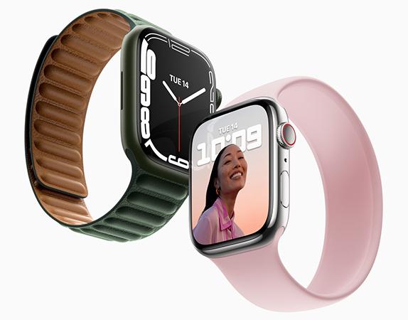 Apple-Event September 2021: Zwei neue Apple Watches der Serie 7. Bild: © Apple