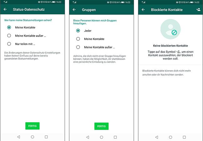 Whatsapp Datenschutz Einstellungen