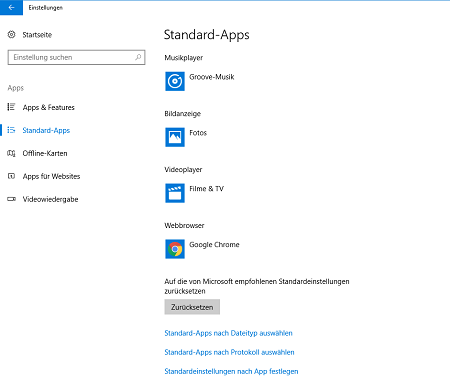 Screenshot der App-Verwaltung unter Windows 10. Screenshot: PC-SPEZIALIST