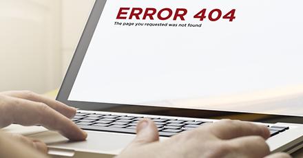 """Was bedeutet die Fehlermeldung """"Error 404 Page not found""""?"""